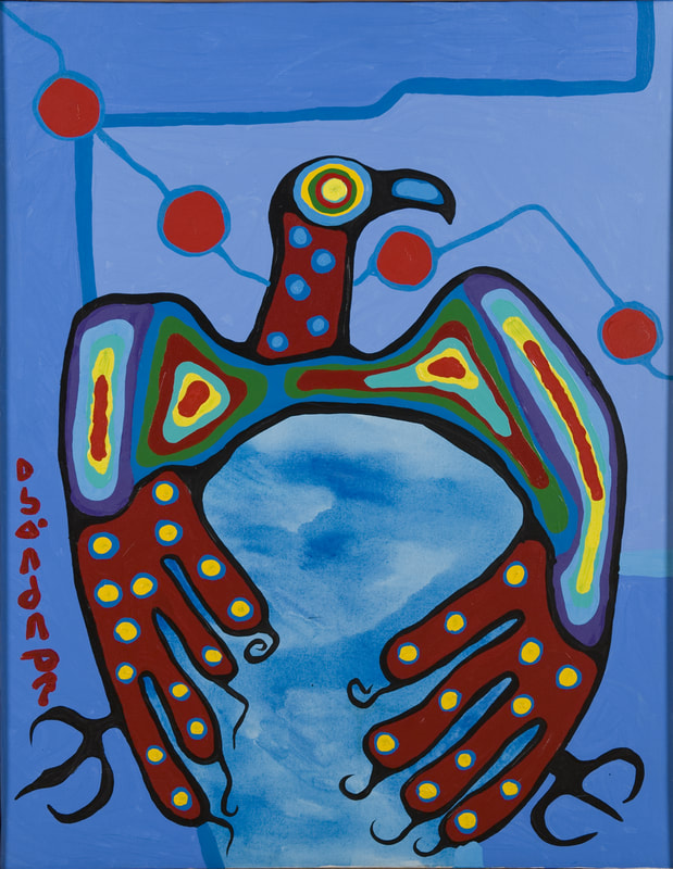 Acrylic painting by Norval Morriseau.